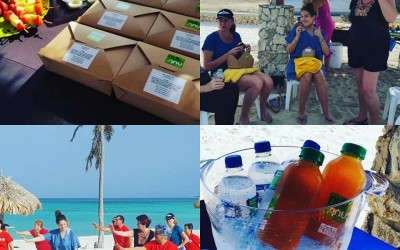 We love working to promote Aruba on the Aruba Wellness Month!