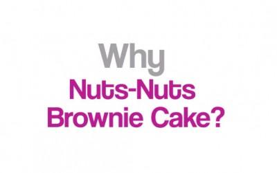 Why Nuts-Nuts Brownie Cake?